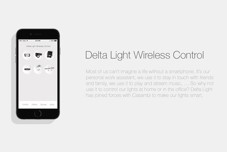 Delta Light, Wireless Control Dimming